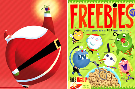 Bob Staake Santa Freebies