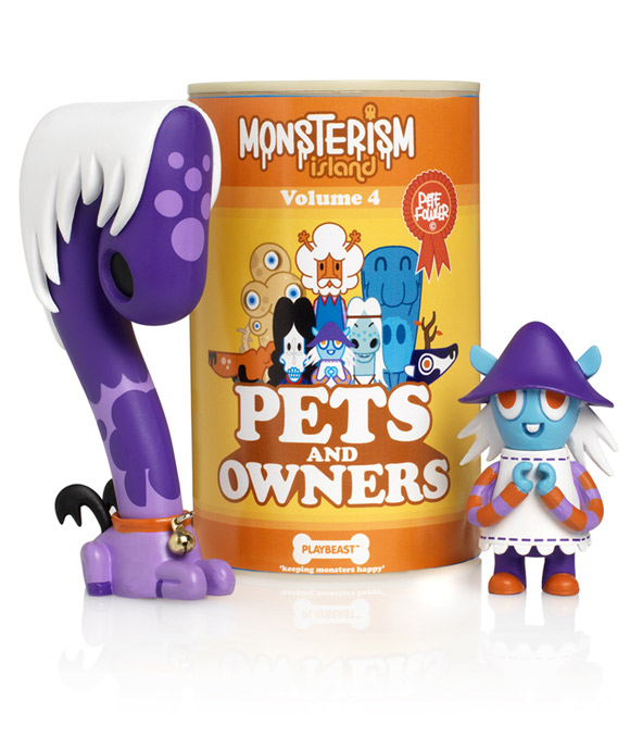 Monsterism Island Pets and Owners by Pete Fowler