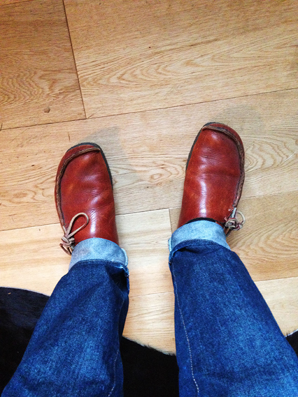 Pete Fowler's Clarks shoes