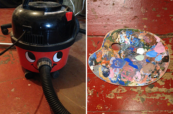 Henry hoover and paint palette