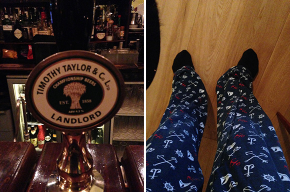 Pete Fowler's pint and pyjamas