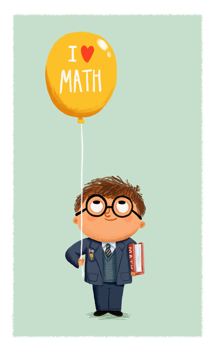 I+love+Math+School+Boy+with+balloon+-+Chris+Chatterton