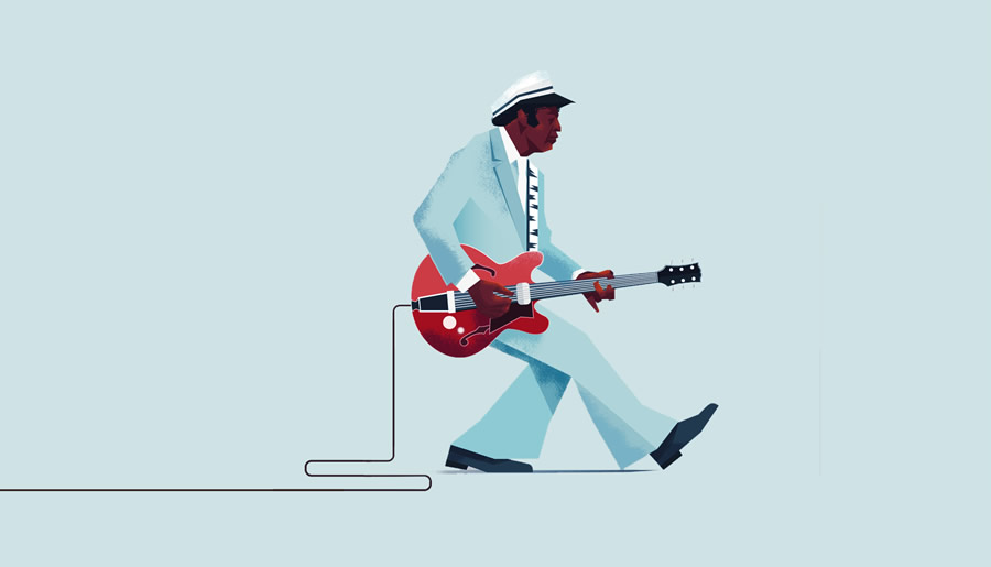 Maite-Franchi-Folio-Art-Illustration-Editorial-Back-To-The-Future-chuck-Berry-L