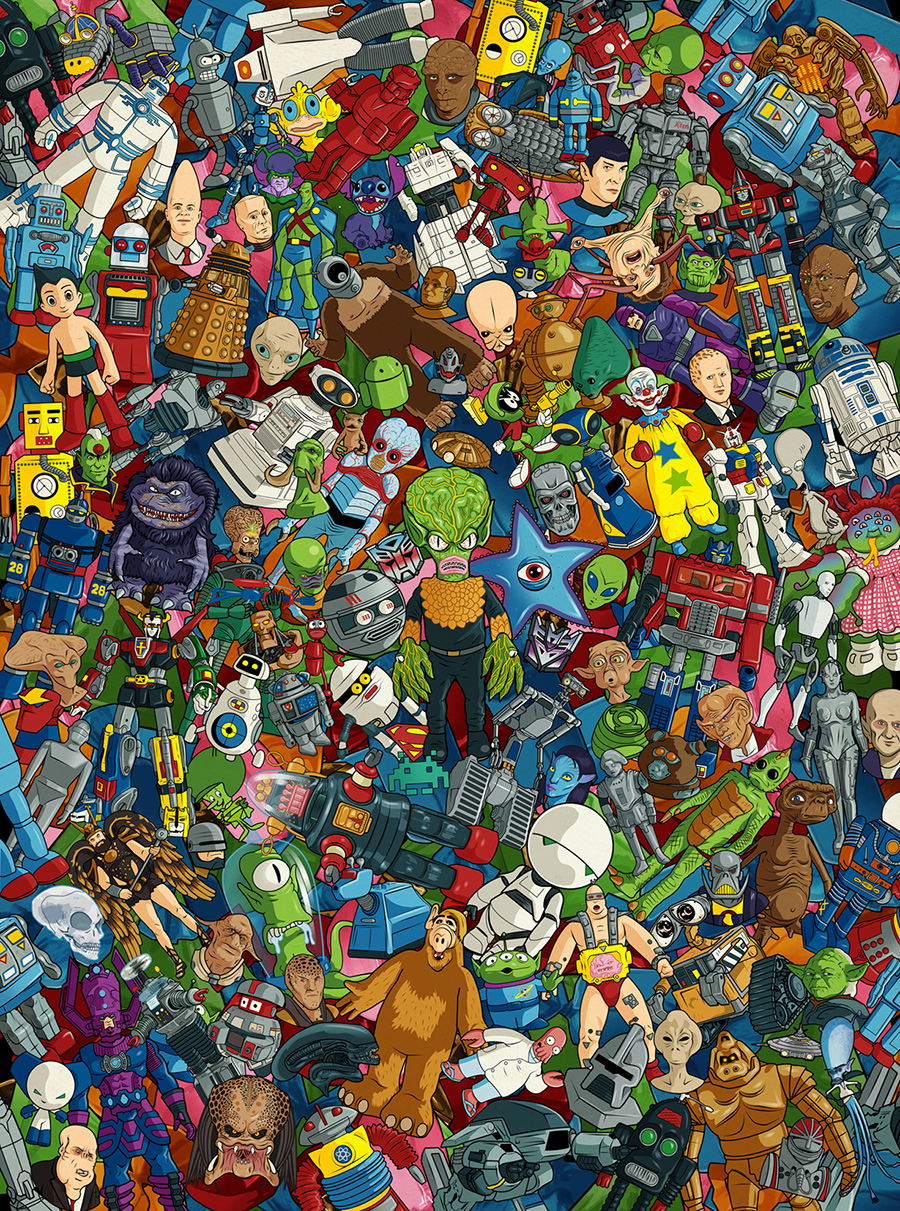 Bill McConkey Aliens and Robots