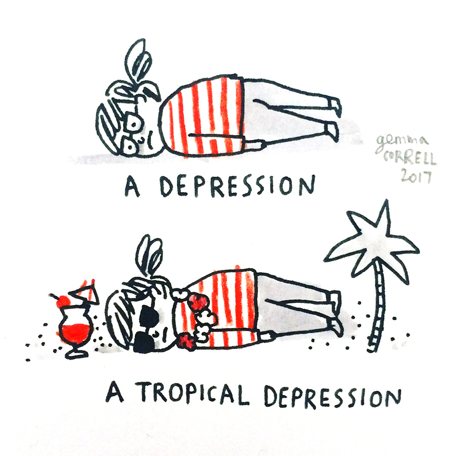 Gemma Correll Tropical Depression