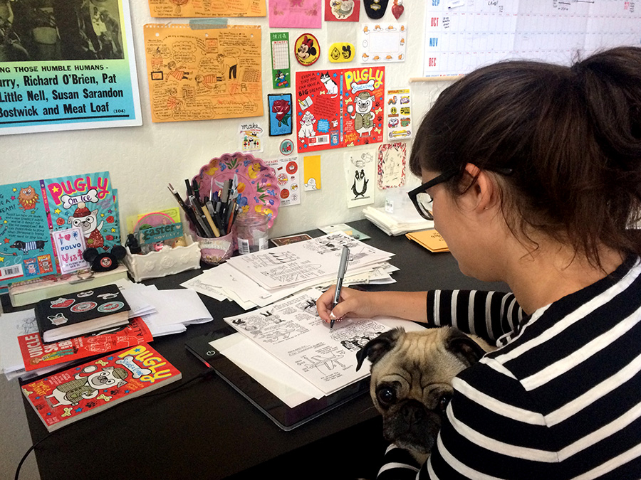 Gemma Correll workspace
