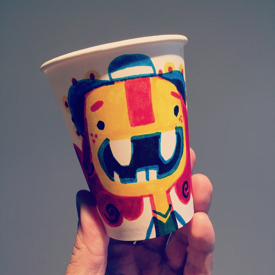 Rex Crowle coffee cup