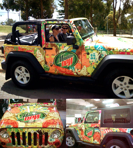 Mountain Dew jeep