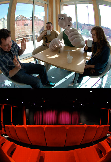 Aardman canteen and cinema
