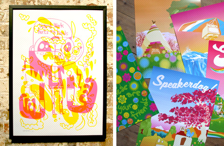 Jon Burgerman and World Lovin prints
