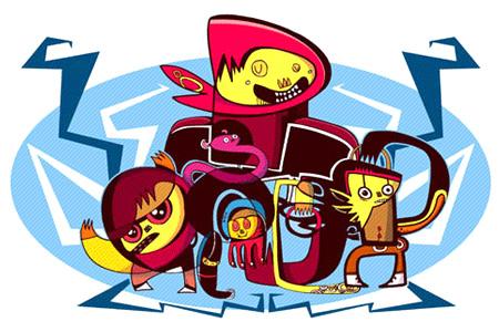 Burgerman characters