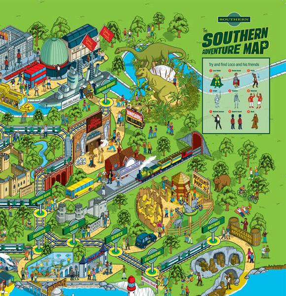 Southern Rail map