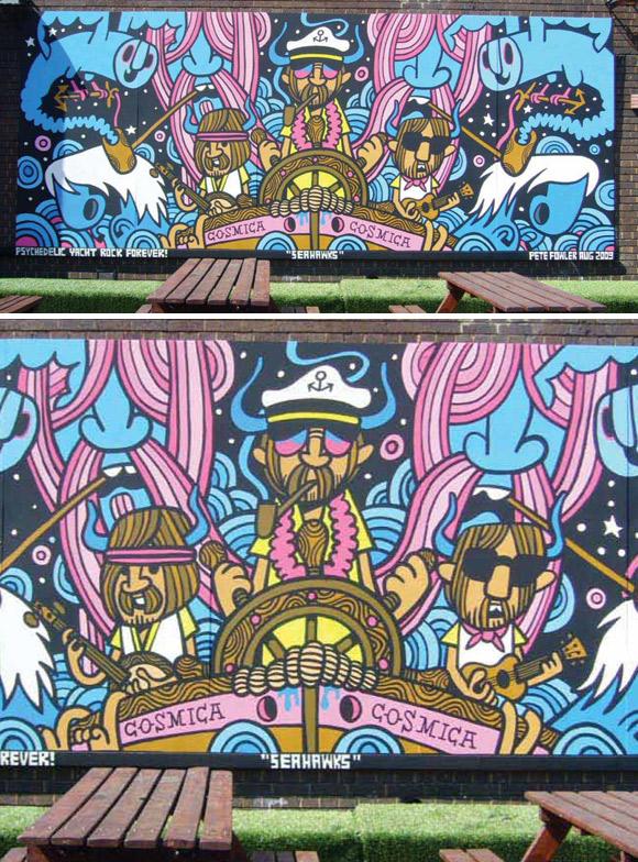 Pete Fowler's Seahawks mural