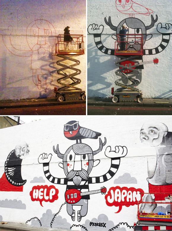 Pete Fowler's Village Underground mural
