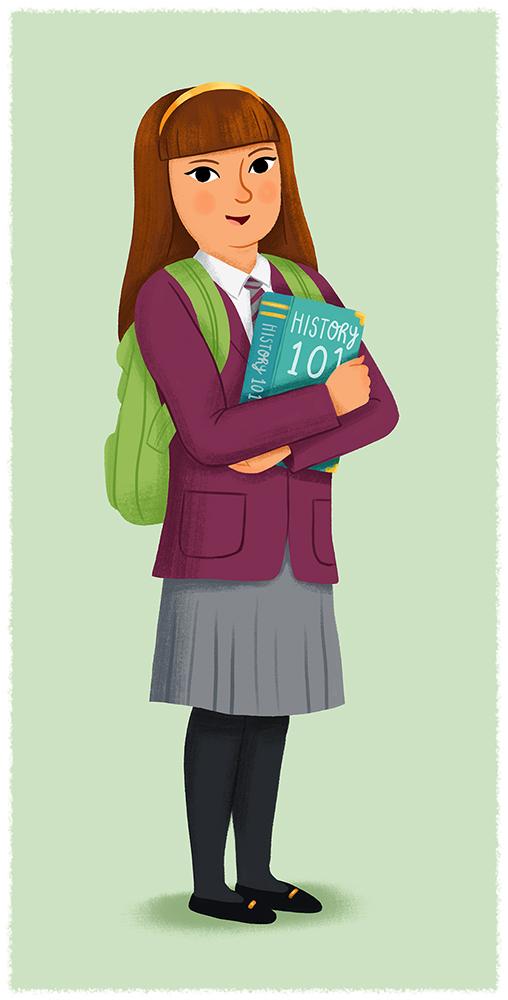 School+Girl+Illustration+-+Chris+Chatterton