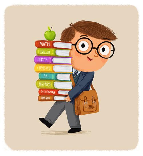 School+boy+carrying+books+-+Chris+Chatterton