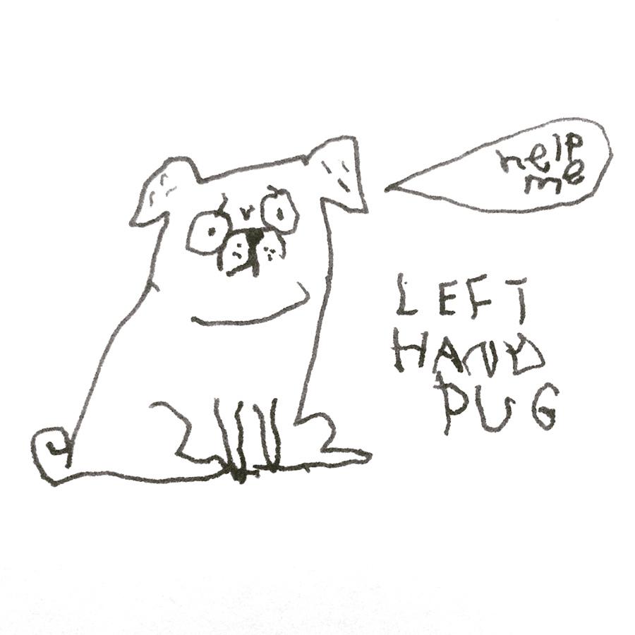 Gemma Correll left handed pug