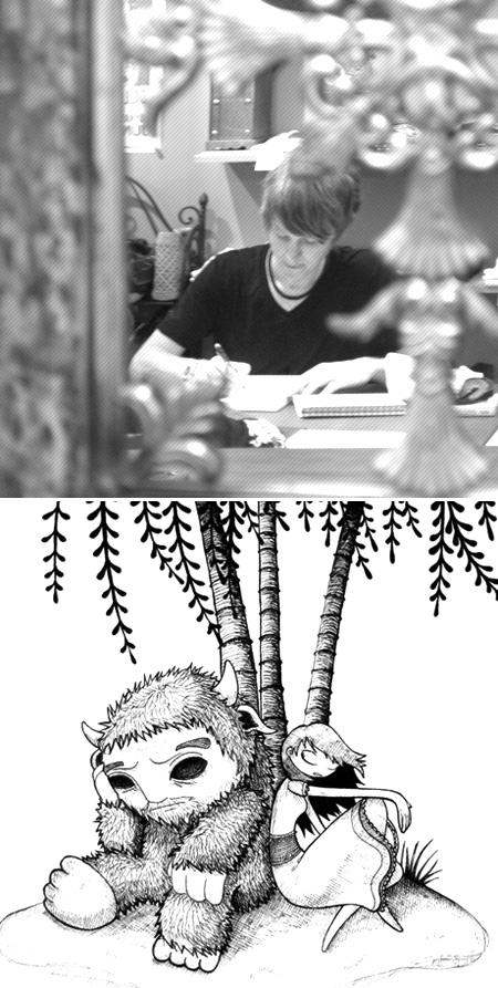 Luke Feldman sketching